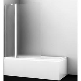 Шторка для ванны WasserKraft Berkel 48P02-110L/R профиль хром стекло матовое