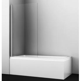 Шторка для ванны WasserKraft Berkel 48P01-80BLACK профиль черный стекло прозрачное
