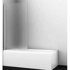 Шторка для ванны WasserKraft Berkel 48P01-80L/R профиль хром стекло матовое