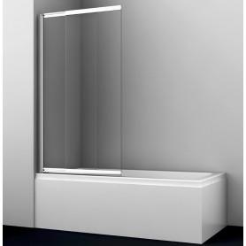 Шторка для ванны WasserKraft Main 41S02-80 раздвижная стекло с покрытием