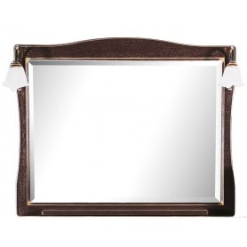 Зеркало АСБ Модена 105 (орех - патина золото)