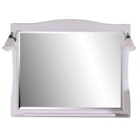 Зеркало АСБ Модена 105 (белый - патина серебро)