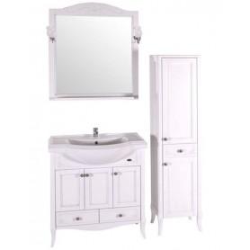Мебель для ванной АСБ Салерно 80 цвет белый / патина серебро