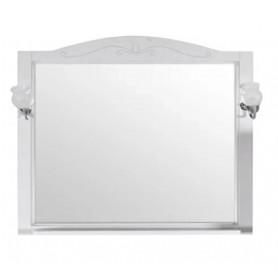 Зеркало АСБ Салерно 105 цвет белый / патина серебро
