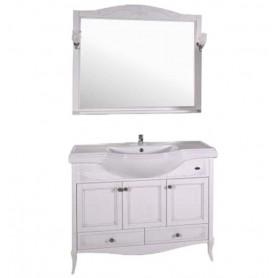 Мебель для ванной АСБ Салерно 105 цвет белый / патина серебро