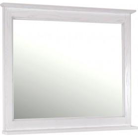 Зеркало АСБ Прато 100 (белый - патина серебро)