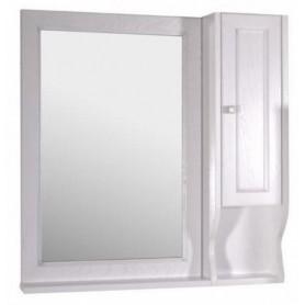 Зеркало со шкафом АСБ Гранда 85 (белый / патина серебро)