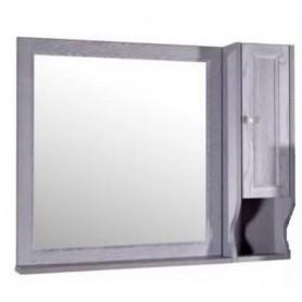 Зеркало со шкафом АСБ Гранда 105 (серый)