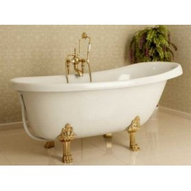 Ванна из искусственного камня Фэма Стиль Салерно ножки золото 170х82