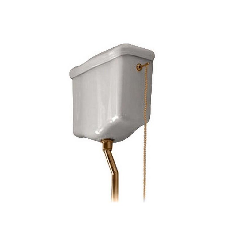 Механизм смыва к высокому бачку Kerasan 754691 золото ➦ Vanna-retro.ru