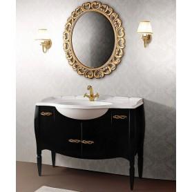 Мебель для ванной Белюкс Бари 110 в черном цвете ➦ Vanna-retro.ru