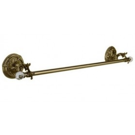 Полотенцедержатель 36 см Art Max Barocco Crystal AM-1781-Br-C цвет бронза ➦