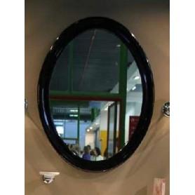 Овальное зеркало в деревянной раме Simas Lante LAS1 (цвет черный глянец)